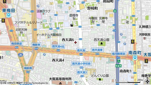 大阪府大阪市北区西天満6丁目2周辺の地図