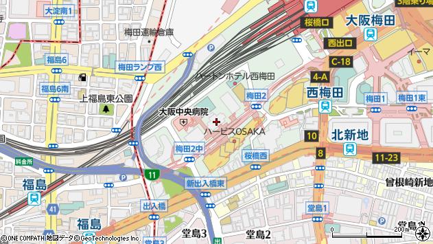 大阪府大阪市北区梅田3丁目3-10周辺の地図