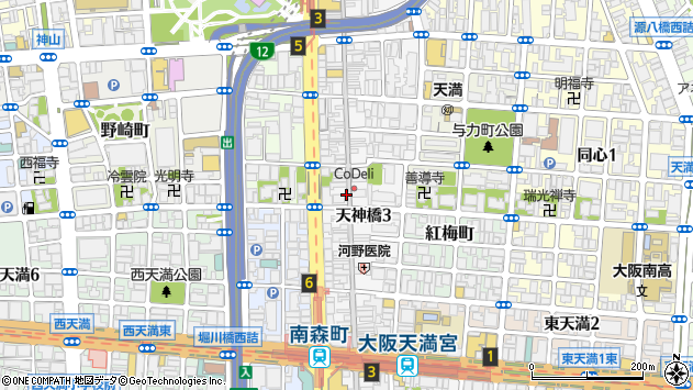 大阪府大阪市北区天神橋3丁目3周辺の地図