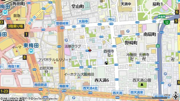 大阪府大阪市北区兎我野町周辺の地図