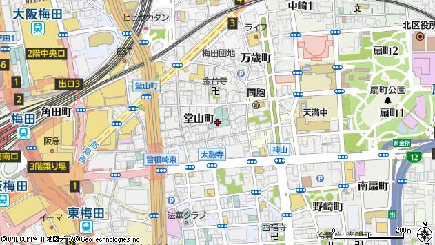 大阪府大阪市北区堂山町9周辺の地図