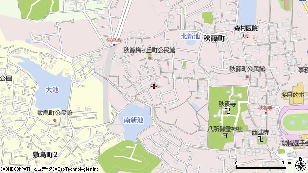 奈良県奈良市秋篠町周辺の地図
