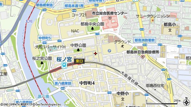 大阪府大阪市都島区中野町5丁目周辺の地図