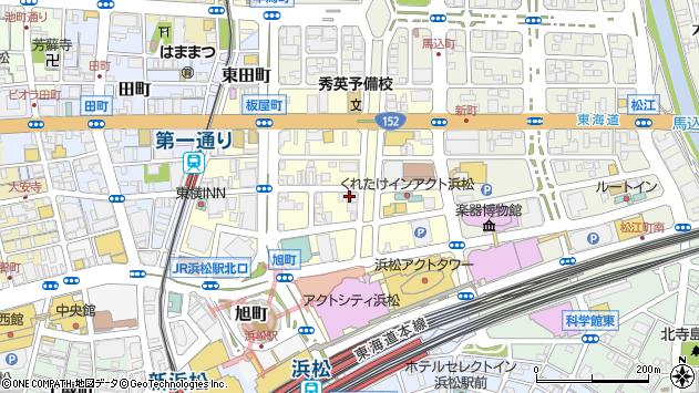 静岡県浜松市中区板屋町672周辺の地図