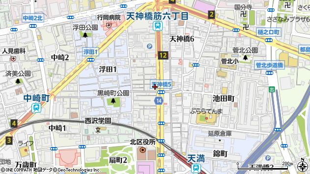大阪府大阪市北区浪花町周辺の地図