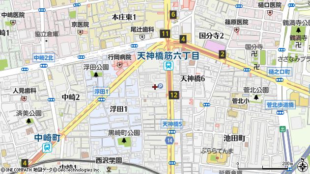 大阪府大阪市北区浪花町13周辺の地図