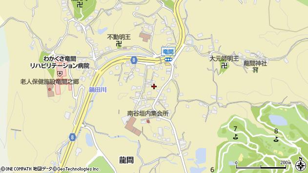 大阪府大東市龍間周辺の地図