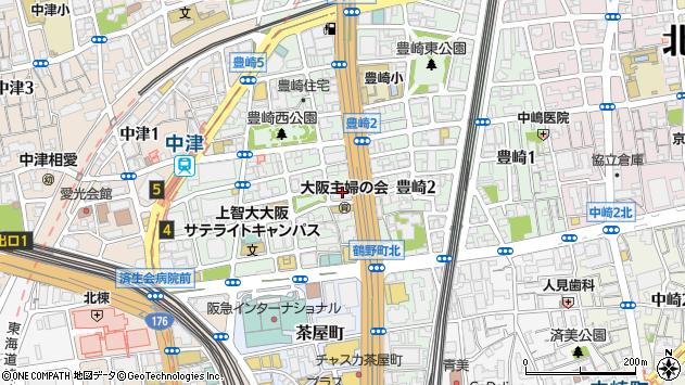 大阪府大阪市北区豊崎3丁目2-1周辺の地図
