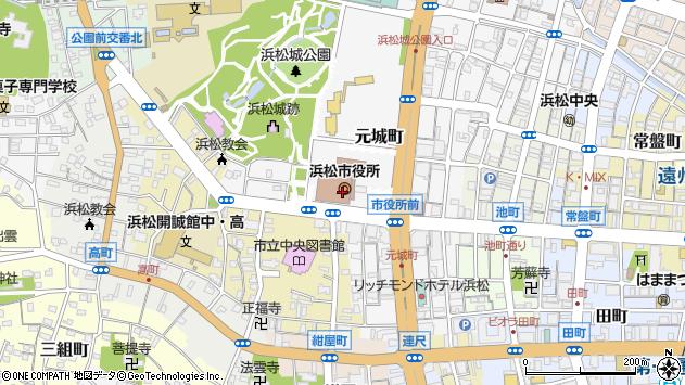 浜松市周辺の地図