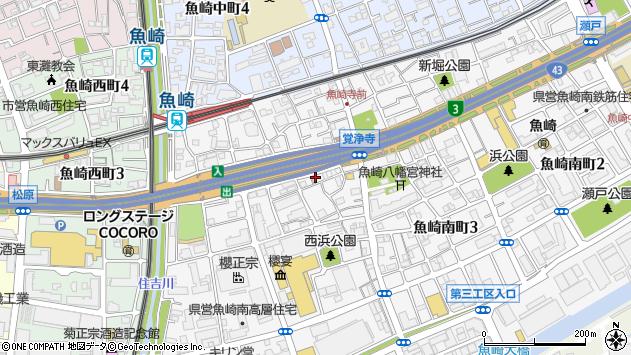兵庫県神戸市東灘区魚崎南町周辺の地図
