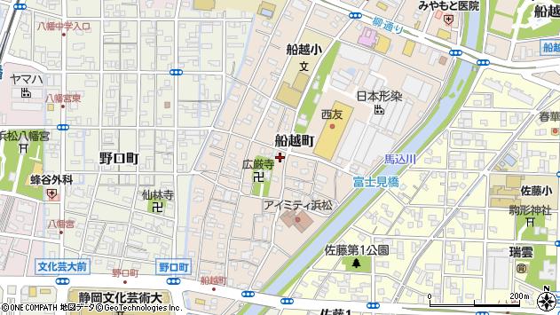静岡県浜松市中区船越町周辺の地図