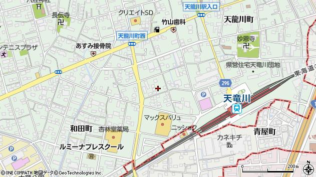 静岡県浜松市東区和田町周辺の地図