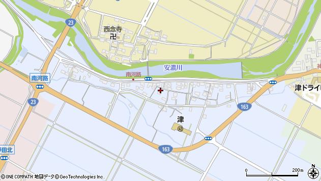 三重県津市南河路周辺の地図