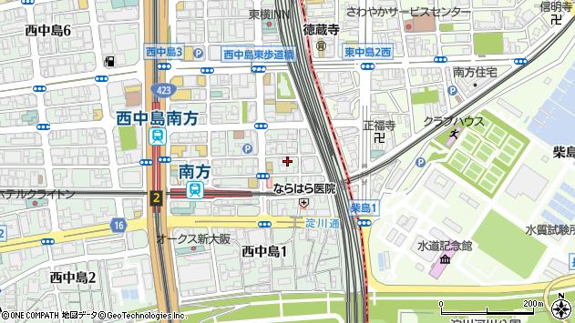 大阪府大阪市淀川区西中島3丁目3-16周辺の地図