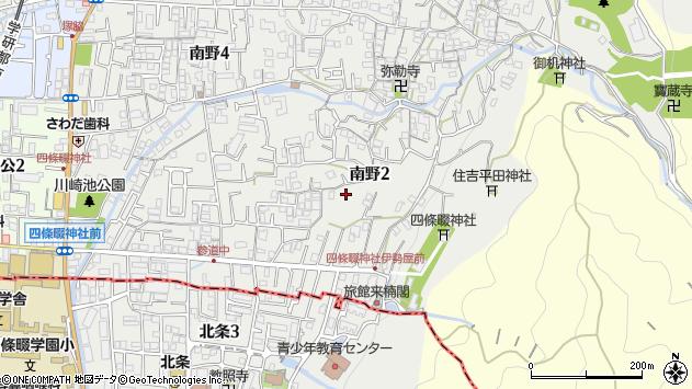大阪府四條畷市南野2丁目 地図(住所一覧から検索) :マピオン