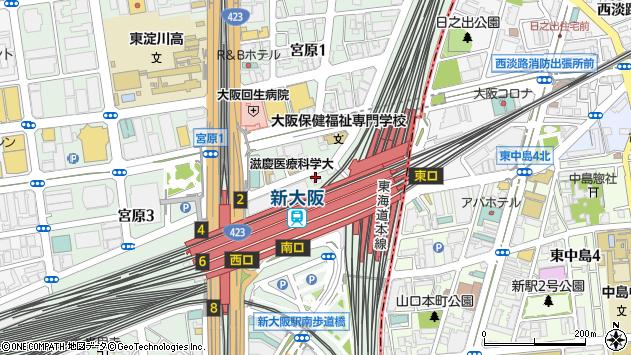 大阪府大阪市淀川区宮原1丁目1-38周辺の地図