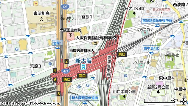 大阪府大阪市淀川区宮原1丁目1-42周辺の地図