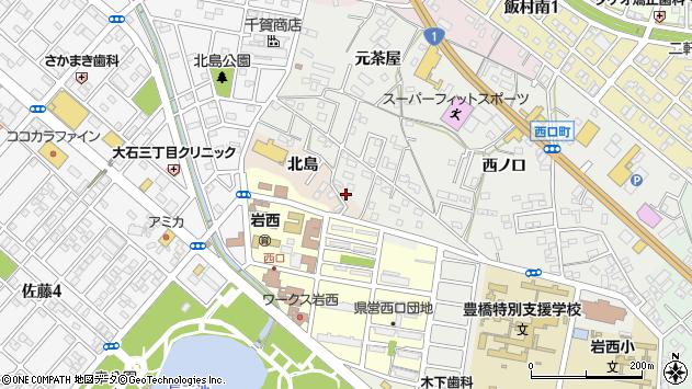 愛知県豊橋市佐藤町北島周辺の地図