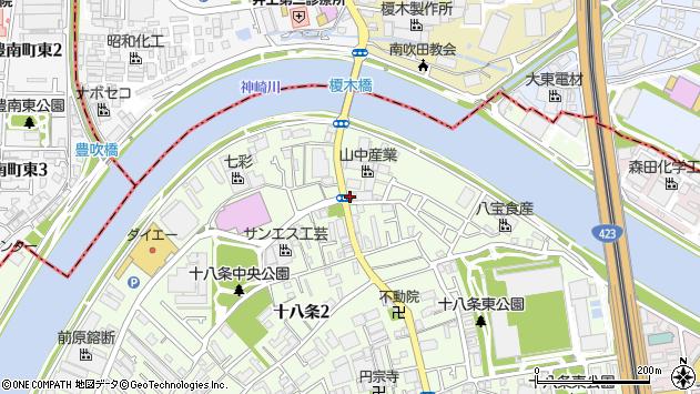 大阪府大阪市淀川区十八条1丁目周辺の地図