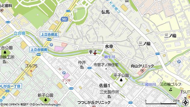 愛知県豊橋市佐藤町平子周辺の地図