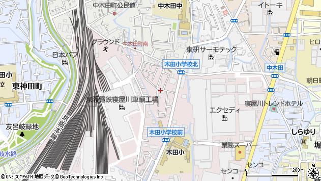 大阪府寝屋川市木田元宮1丁目周辺の地図