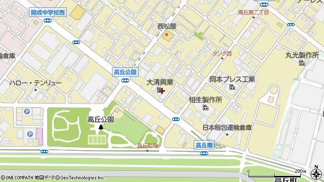 静岡県浜松市中区高丘東2丁目12-3周辺の地図