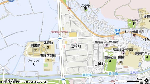 兵庫県赤穂市黒崎町周辺の地図