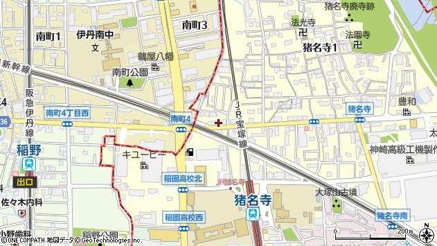 兵庫県尼崎市猪名寺3丁目 住所一覧から地図を検索