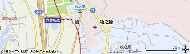 静岡県牧之原市勝田周辺の地図