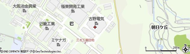 兵庫県三木市別所町巴1周辺の地図