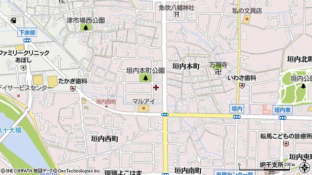 兵庫県姫路市網干区垣内本町358周辺の地図
