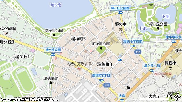 兵庫県伊丹市瑞穂町4丁目周辺の地図