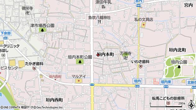 兵庫県姫路市網干区垣内本町458周辺の地図