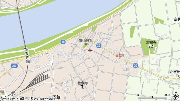 兵庫県加古川市上荘町国包周辺の地図