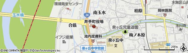 京都府綴喜郡井手町周辺の地図