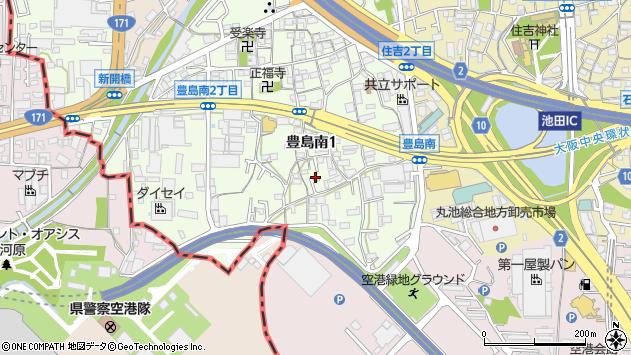 大阪府池田市豊島南周辺の地図