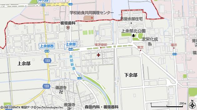 兵庫県姫路市余部区上余部周辺の地図