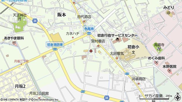 静岡県島田市阪本周辺の地図