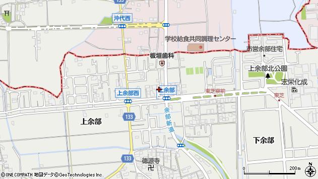 兵庫県姫路市余部区上余部212周辺の地図