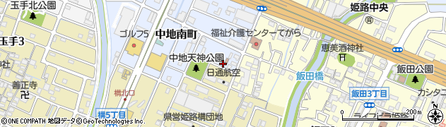 兵庫県姫路市中地南町周辺の地図