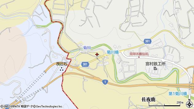静岡県島田市佐夜鹿周辺の地図
