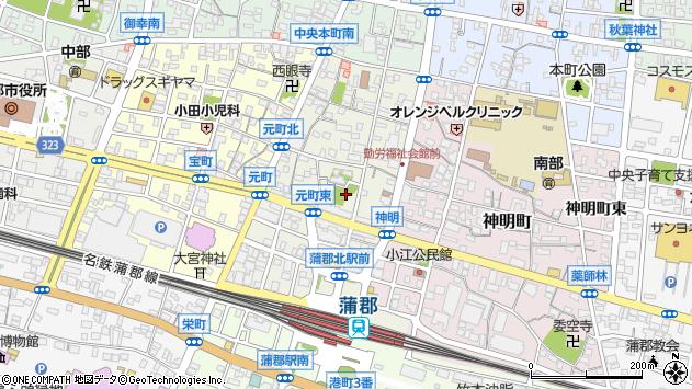 愛知県蒲郡市元町周辺の地図