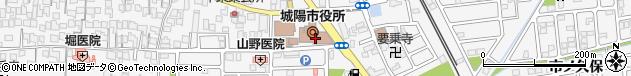 京都府城陽市周辺の地図
