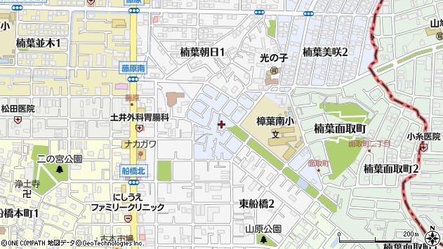 大阪府枚方市楠葉美咲1丁目周辺の地図