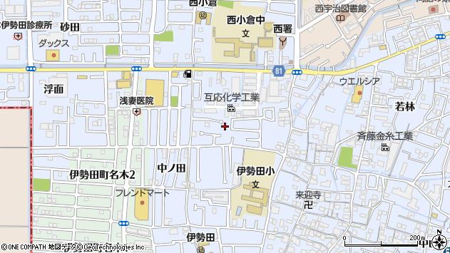 京都府宇治市伊勢田町井尻周辺の地図