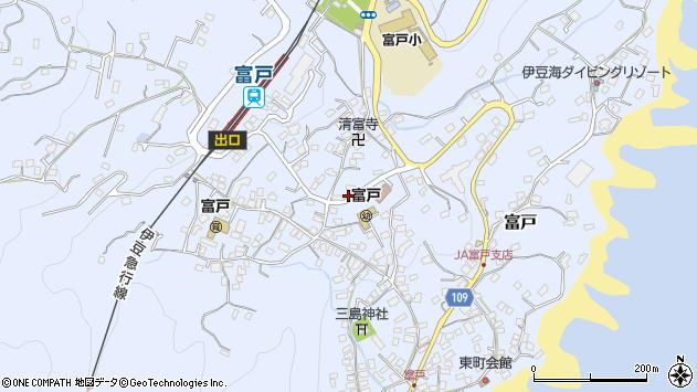 静岡県伊東市富戸周辺の地図