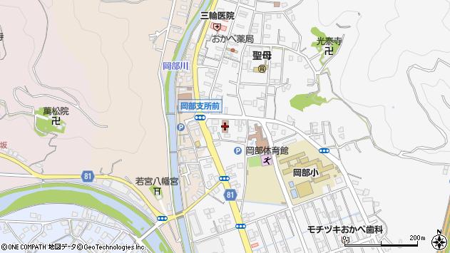 静岡県藤枝市岡部町内谷周辺の地図