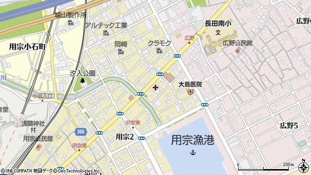 静岡県静岡市駿河区用宗 地図(住所一覧から検索) :マピオン