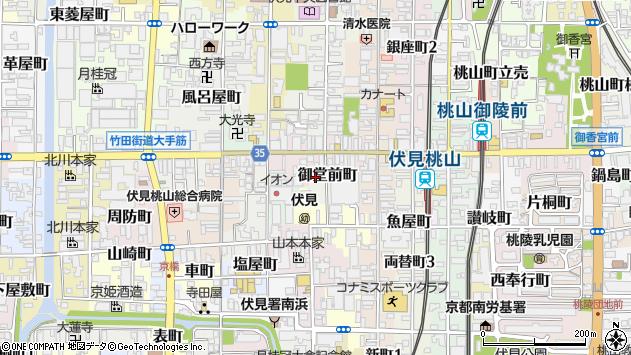 京都府京都市伏見区御堂前町617周辺の地図
