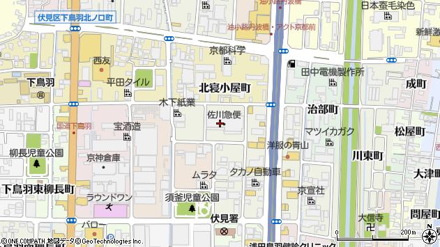 京都府京都市伏見区南寝小屋町5周辺の地図